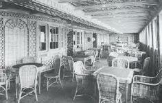 *TITANIC ~ Interior, 1st Class Parition Cafe