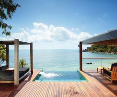 Ocean, Check. Negative edge pool, Check. I could hang here! Bedarra Island Luxury Resort - Australia