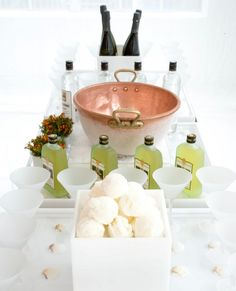 Sophisticate-Italian frozen cocktail bar using champagne, sorbet & limoncello.