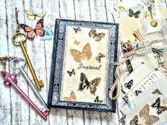 Butterflies journal.Vintage journal. Vintage Journals, Butterflies, Vintage Magazines, Butterfly