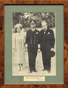 King George VI, Queen Elizabeth and Prime Minister Winston Churchill the queen mother