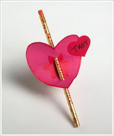Valentine's Gift Pencil Holder/Tag