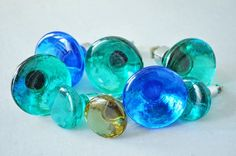 Two different sizes Glass Knobs