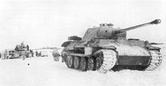 Panther plus support vehicles in snow (Eastern front) #worldwar2 #tanks