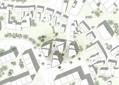 1. Preis: Wohnanlage am Kilianipark, Erfurt_Lageplan © hks | architekten