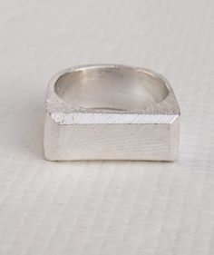 Silver Men's Signet Ring.. could be a wedding ring??