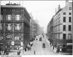 Water Street from the Pier Head Station of the Liverpool Overhead Railway, Liverpool. 19 April 1895. From the London Midland and Scottish Railway Collection. Please click for more information, or to search our collections.