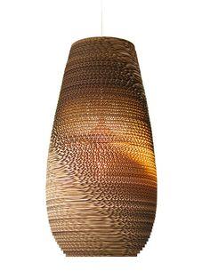 Tekturowy Abażur do Lampy Wiszącej - Recykling - Ploneres