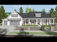 Modern Farmhouse With Optional Finished Lower Level - 64460SC | Architectural Designs - House Plans