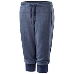 Only the Essentials! These cotton, three-quarter sweat pants are a must-have.