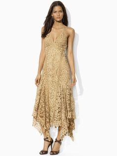 Battenburg Lace Dress - Blue Label Maxi Dresses - RalphLauren.com