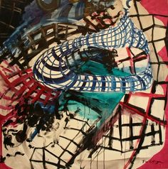 "Saatchi Online Artist Francisco Ortega; Painting, ""spiderman's web "" #art"