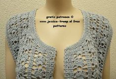 89f35a6211f34 free women s sleeveless cardigan crochet pattern with fantasy stitch  Crochet Cardigan Pattern