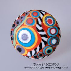 Modern Art Glass Glass cabochon interchangeable by MichouJewelry