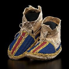 Sioux Beaded Hide Moccasins