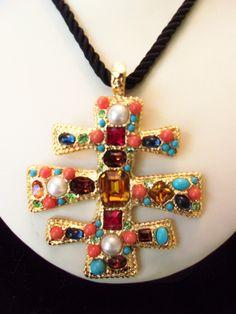 A personal favorite from my Etsy shop https://www.etsy.com/listing/244571774/kenneth-j-lane-kjl-vintage-byzantine