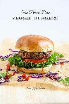 These Thai Black Bean Veggie Burgers are super easy to make and so delicious! #vegan #glutenfree #dairyfree