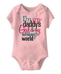 Pink 'Daddy's Girl & My Mommy's World' Bodysuit - Infant