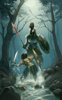 John Rocco's art for the Percy Jackson and the Olympians series. I seriously want to buy some of these prints.