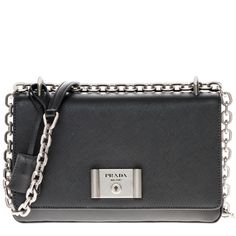Prada Saffiano Lux Shoulder Bag