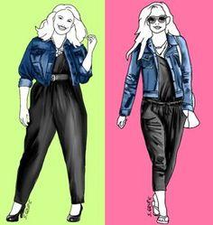 Sind die Outfits für Plus-Size-Frauen und super-dünne Hollywood-Stars austauschbar? Die Antwort finden Sie auf www.modefluesterin.de