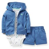 He's your little big guy in this whale theme set! Coordinating shorts and cardigan look adorable with a cute whale print bodysuit.