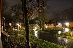 Nouvel an sous la pluie mais les roulottes restent bien jolies dans la clairière.  Photo François R.