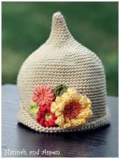 Super cute for a BABY! Crochet elf hat crochet pixie hat crochet by HannahandAspen