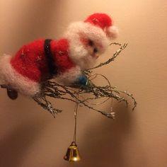 Waldorf inspirierte Nadel Gefilzte Santa Claus Art von DreamsLab3