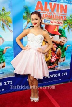 Ariana Grande: 'Alvin & The Chipmunks' Performance!: Photo Ariana Grande hits the stage inside the El Rey Theatre to perform at the Alvin and the Chipmunks: Chipwrecked Blu-ray and DVD release party on Monday (March Cat Valentine, Dresses For Less, Short Dresses, Ariana Grande Cute, Alvin And The Chipmunks, Nickelodeon, Red Carpet Gowns, Online Photo Gallery, Inspirational Celebrities