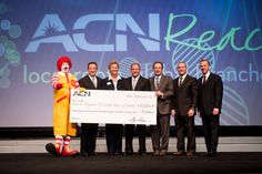 ACN Donated 122,826.54 to the Ronald McDonald House of Charlotte, NC at our  International Training Event in Charlotte in September, 2012. Learn more at www.acncharity.com