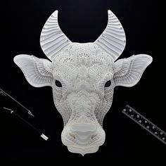 Patrick Cabral Endangered Species Series In Cut Paper - Mindoro Dwarf Buffalo