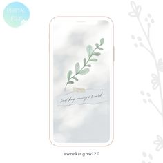 Read the full title Botanical simple leaf   iPhone wallpaper   Watercolour   Android & ios   Universal   Small tablet wallpaper   Phone lockscreen  