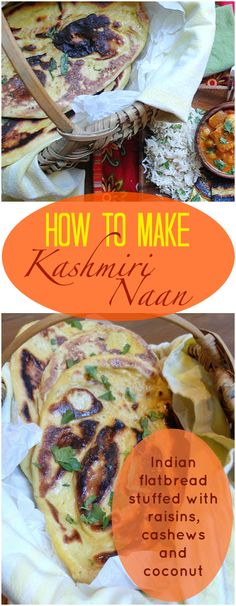 I added even more flavor to already flavorful kashmiri naan by adding curry powder and cumin to the dough before stuffing it with a rich and sweet-savory filling of raisins, cashews and coconut. Cooked in a hot cast iron pan on the stovetop, there's no need to turn on your oven! | pastrychefonline.com