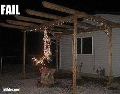 redneck christmas lights---this is pretty funny---especially for my deer hunter! Redneck Christmas, Christmas Deer, Christmas Humor, Christmas Lights, Christmas Time, Christmas Decorations, Merry Christmas, Christmas Stuff, Classy Christmas