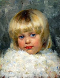 Maria Wiik (Finnish artist, At the Church Catharina Maria Wiik was born in Uusimaa, to architect Jean Johan Wiik and Gust. Helene Schjerfbeck, Portrait Images, Portrait Art, Child Portraits, Painting Of Girl, Figure Painting, Painting Art, Female Images, Female Art