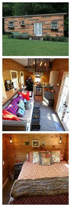 """Every square inch of space is used in this tiny home. And a 6'6"""" tall man lives in this tiny trailer! 