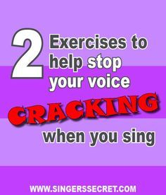 2 simple exercises to help stop your voice cracking when you sing. See the full exercise here: http://singerssecret.com/how-to-stop-your-voice-from-cracking/ #singingtips #singing #howtosing
