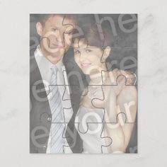 """12pc Custom Photo """"Mock"""" Puzzle Vertical Invite Valentine Greeting Cards, Photo Greeting Cards, Faire Part Photo, Carton Invitation, Love You To Pieces, Christmas Party Invitations, Create Photo, Personalized Invitations, Create Your Own Invitations"""