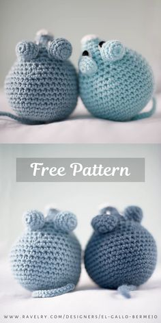 Easy mouse free crochet amigurumi pattern by El Gallo Bermejo. The size of the finished mouse (if you use a yarn suitable for a hook), is 13 cm. Diy Crochet Toys, Crochet Gratis, Crochet Mouse, Crochet Unicorn, Cute Crochet, Crochet Dolls, Crochet Yarn, Crochet Projects, Crochet Cat Pattern