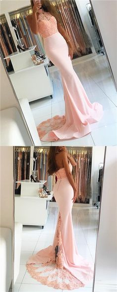 halter prom dresses,blush pink prom dresses,chic prom dress,sexy prom dress,mermaid dress,vestidos de festa