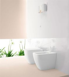 GSI ceramic   Sand floor mounted sanitary wares are solid and supple elements, have all the innovations introduced by GSI Ceramics, such as the special extraglaze enamel, water-saving flush system, toilet seats with quick release mechanism and quick and slow soft-close system.    #GSIceramica #BathroomDesign #Sanitaryware #SandSanitaryware