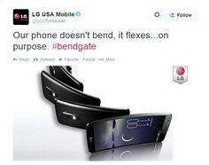 LG USA Mobile seems to be taking advantage of this whole #bendgate trend...