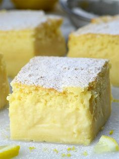 Lemon Custard Cake - OMG Chocolate Desserts