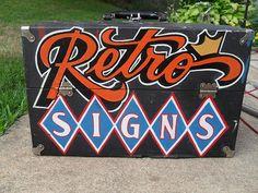 Retro Signs box