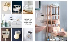 The IKEA catalog is full of smart, beautiful solutions, all designed to help you achieve a better everyday life at home! Condo Bathroom, Bathroom Ideas, Deep Shelves, Small Closet Organization, Dining Room Walls, Decorative Storage, Storage Shelves, Interior Decorating, Decorating Ideas
