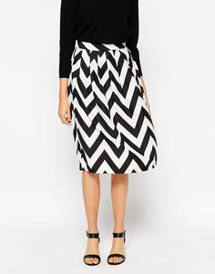 Shop Tired Of Tokyo Zig Zag Midi Skirt at ASOS. Waist Skirt, Midi Skirt, High Waisted Skirt, Rock, Zig Zag, Fashion Details, Skirt Fashion, Tired, Style Me