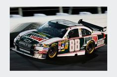 Dale Earnhardt Jr Throwback Mountain Dew car