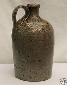 Antique Randolph County, North CarolinaSigned M R Moffitt (1835-1913) 1 Quart Salt Glaze Whiskey Jug We are very excited to offer a fantastic and very rare, signed North Carolina jug by M. R. Moffitt.