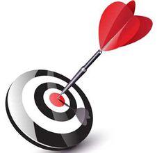 Zielscheibe Pfeil - Weisheit zum Einfluss von Worten
